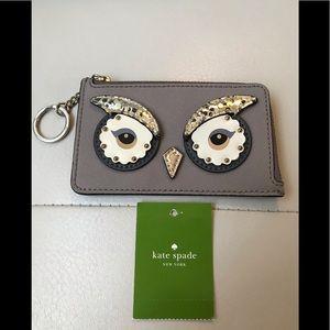 🎀 EUC Kate Spade Owl Keychain Card Holder 🎀